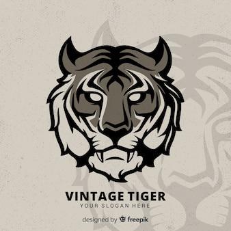 Vintage tijger achtergrond