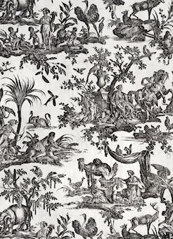 Vintage toile-patroon, remix van kunstwerken in het publieke domein