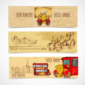 Vintage transportbanners