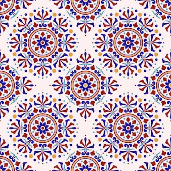 Vintage turkse stijl van het tegelpatroon