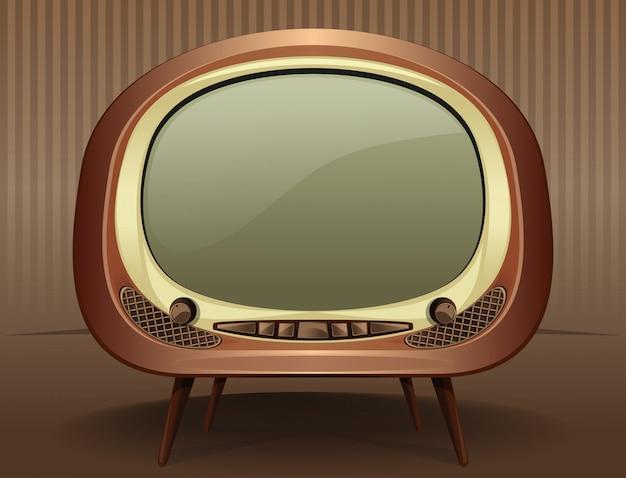 Vintage tv-televisie in de oude stijl