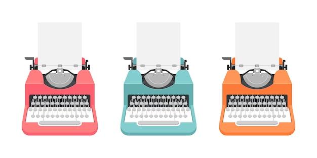 Vintage typemachine illustratie