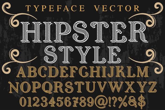 Vintage typografie typografie lettertype ontwerp hipster stijl