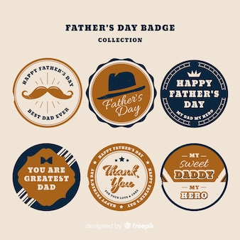 Vintage vaders dag badge collectie