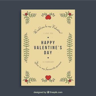 Vintage valentijn flyer ontwerp