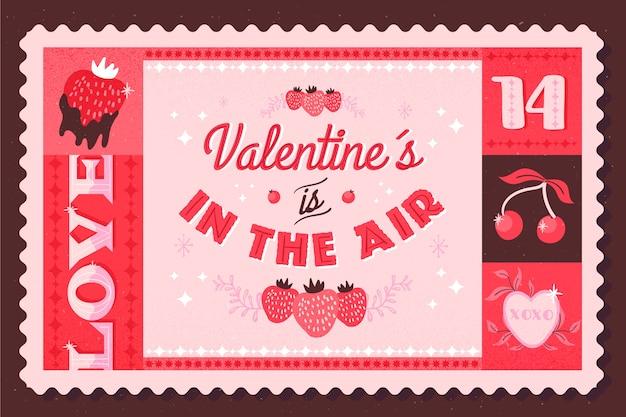 Vintage valentijnsdag achtergrond