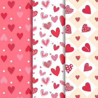 Vintage valentijnsdag patroon collectie