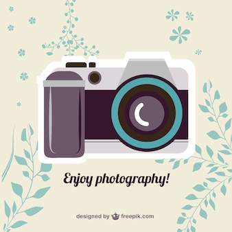 Vintage vector camera gratis te downloaden
