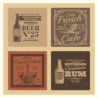 Vintage vector design voor café, bar, restaurant
