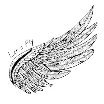 Vintage vector vleugel