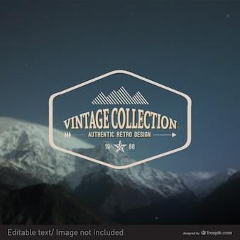 Vintage vector zegelontwerp
