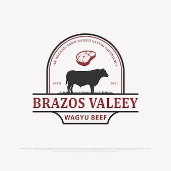 Vintage vee logo ontwerp