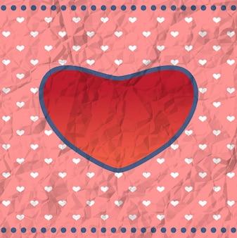 Vintage verfrommeld hart frame