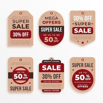 Vintage verkoop tag-collectie