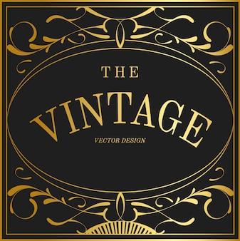 Vintage verzameling art nouveau badge vectoren