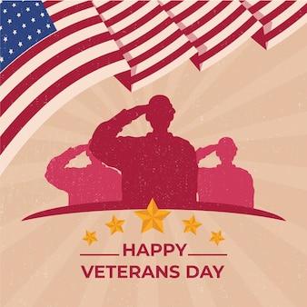 Vintage veteranen dag thema