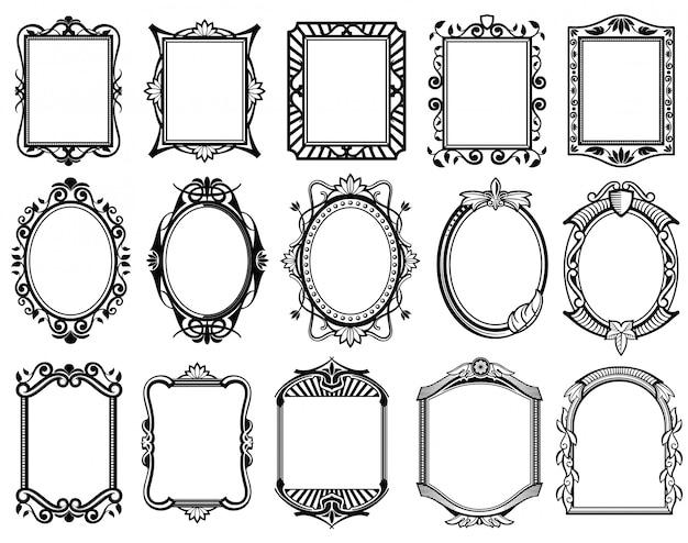 Vintage victoriaanse spiegel