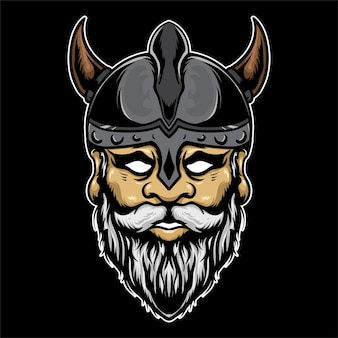 Vintage viking illustratie kleurrijk