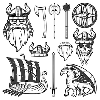 Vintage viking-set