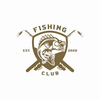 Vintage visserij-logo