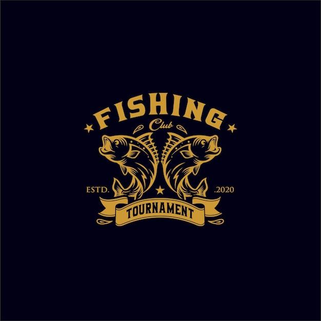 Vintage visserijlogo