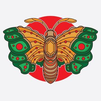 Vintage vlinder flash tattoo