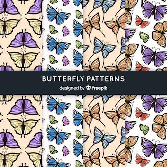 Vintage vlinder patroon collectie