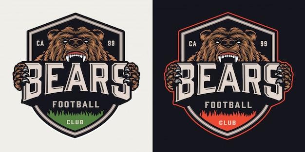 Vintage voetbalclub kleurrijke embleem