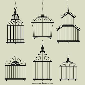 Vintage vogelkooien