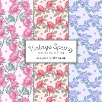 Vintage voorjaar patroon collectie