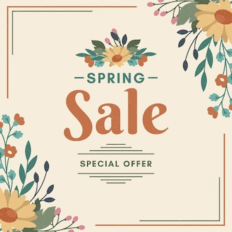 Vintage voorjaar promotionele verkoop
