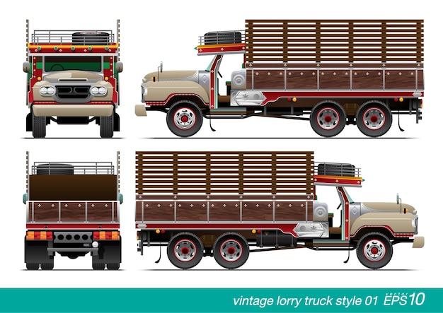 Vintage vrachtwagen