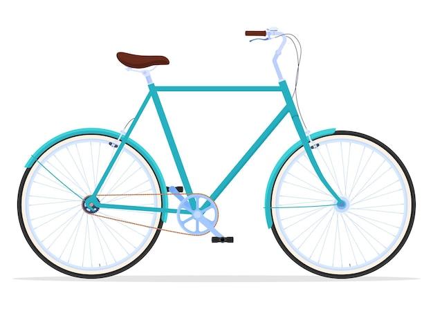 Vintage vrouwen fiets illustratie
