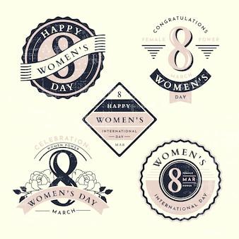 Vintage vrouwendag label collectie