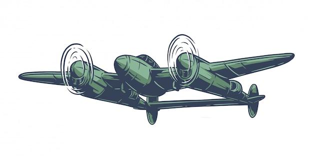 Vintage wereldoorlog 2 vliegtuig