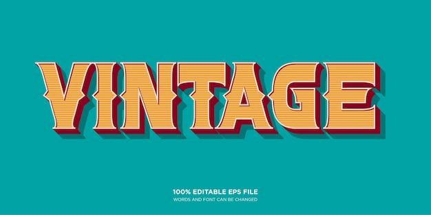 Vintage westerse tekststijleffect