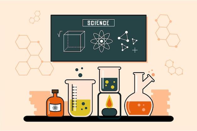 Vintage wetenschap achtergrond concept