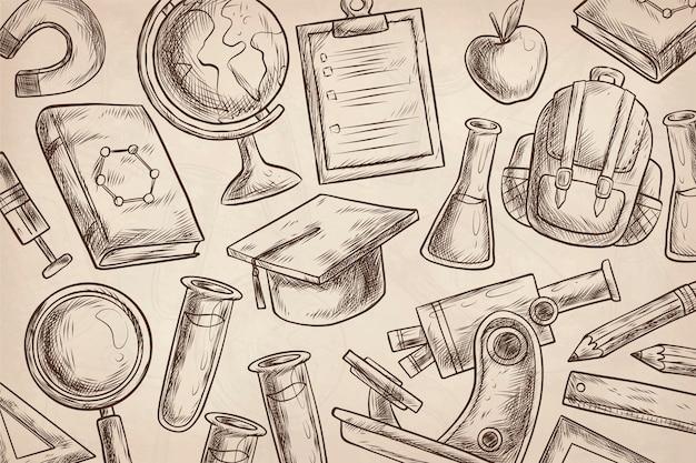 Vintage wetenschappelijk onderwijs achtergrond