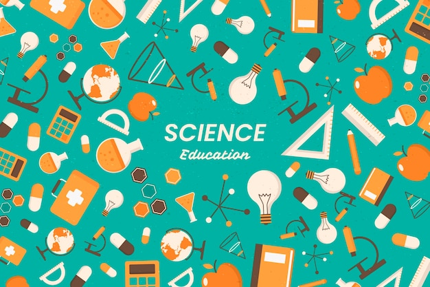 Vintage wetenschappelijk onderwijs behang concept