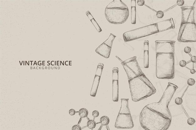 Vintage wetenschappelijke achtergrond