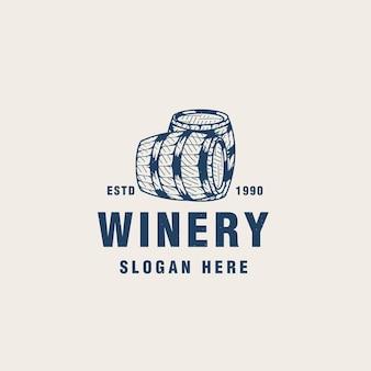 Vintage wijnmakerij logo sjabloon