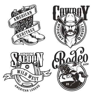 Vintage wild west emblemen