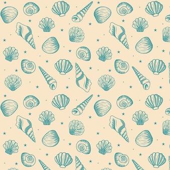 Vintage zeeschelp patroon