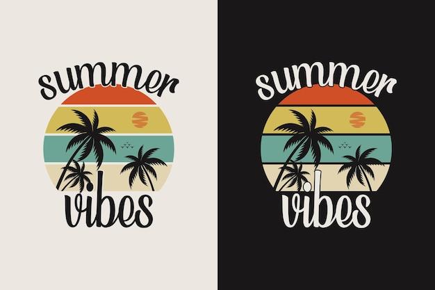 Vintage zomerse belettering met palmboom