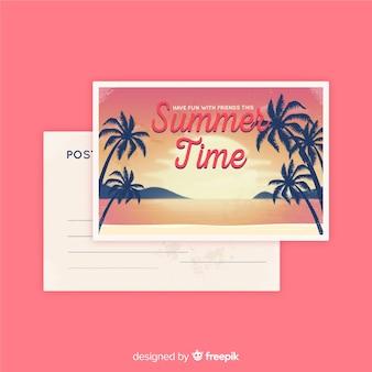 Vintage zomervakantie briefkaart