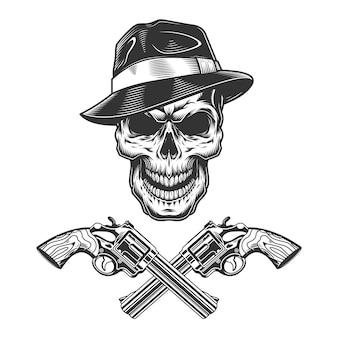 Vintage zwart-wit crimineel concept Gratis Vector