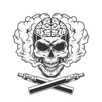 Vintage zwart-wit vapen concept