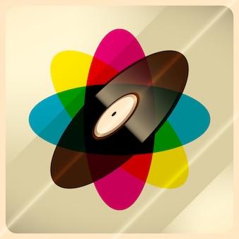 Vinyl achtergrond
