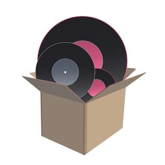 Vinyl in doos