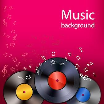 Vinyl muziek achtergrond